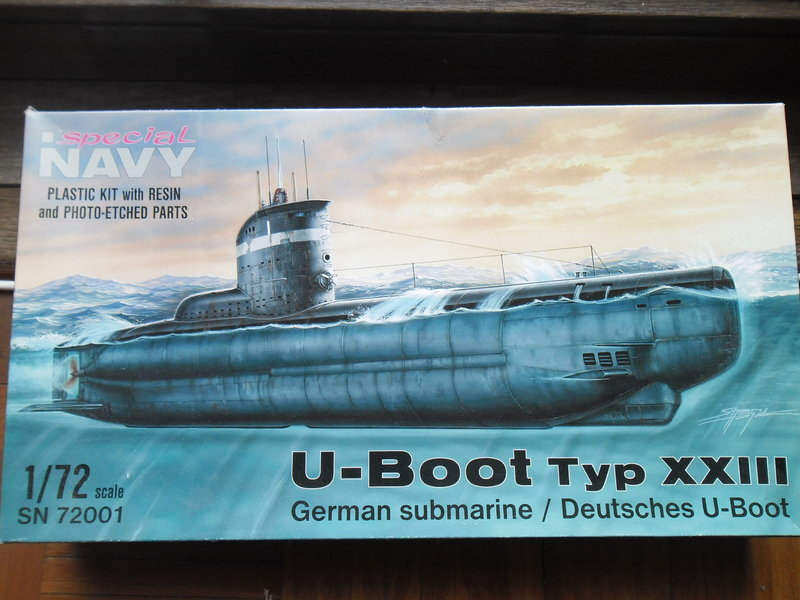 U boot typ xxiii w resin and photo etched parts cmk 1 72 for Deutsches u boot typ xxi mit interieur